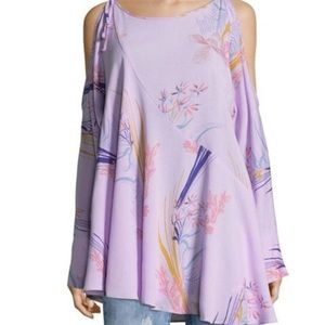 Free People clear skies purple floral tunic